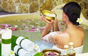 Принятие ванны для похудения