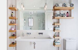 Как расположить полочки в ванне