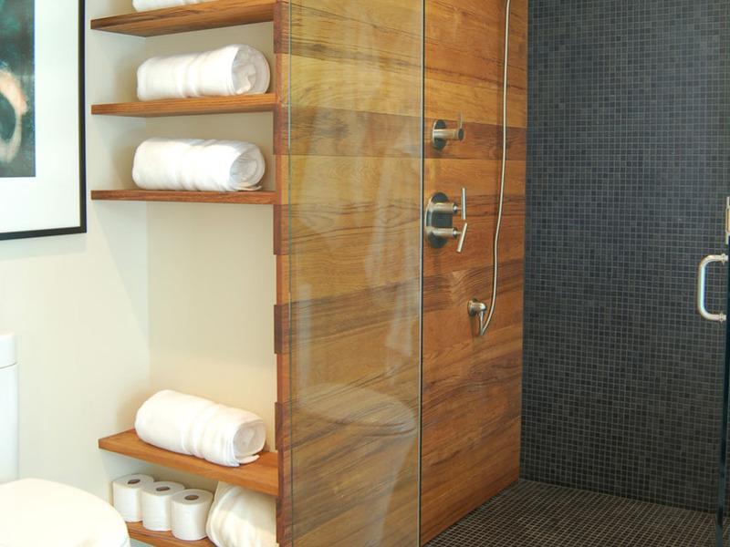 Пример полок для ванной