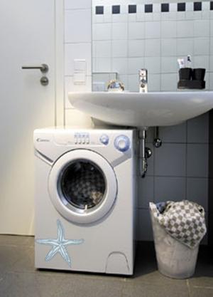 Как установить стиралку под раковину