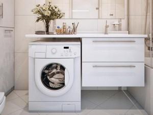 Столешница с раковиной под стиральную машину столешница с подоконником фото