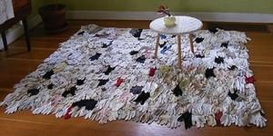 Как сделать коврик для ванны из старых полотенец 341