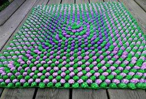 Особенности вязания ковриков