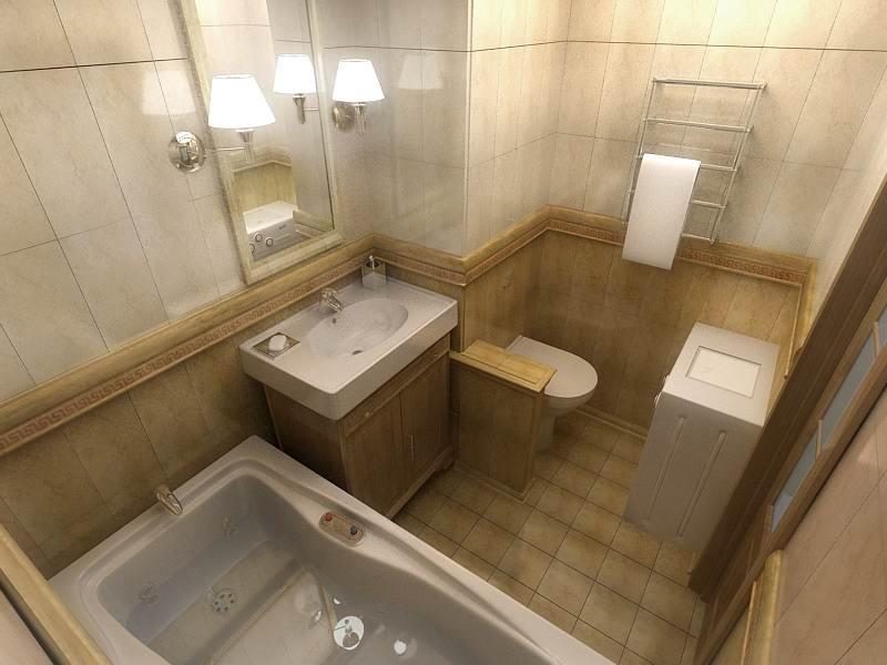 Дизайн интерьера ванной отделки
