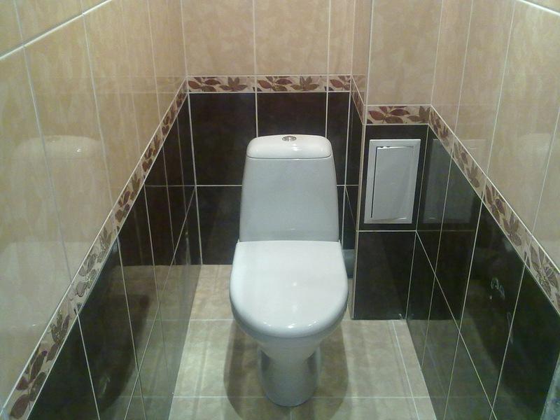 Укладка кафеля  в туалете