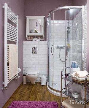 душевая кабина в маленькой ванной