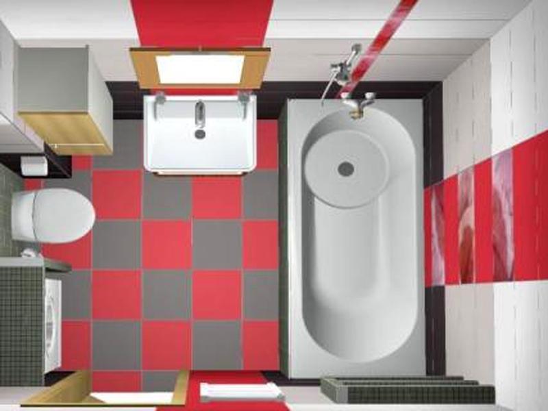 Объединенная ванная и туалет дизайн